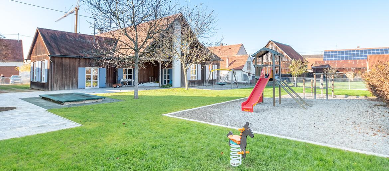 Außenanlagen Kindergarten Steinheim fertiggestellt